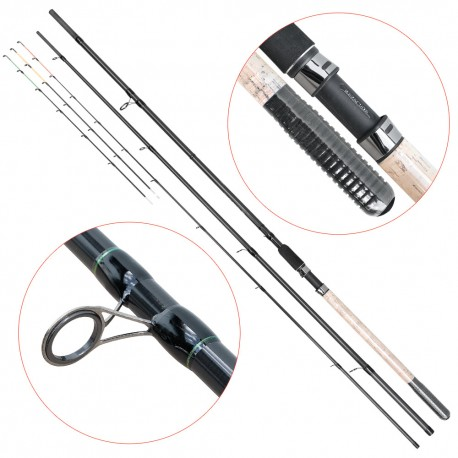 Lanseta fibra de carbon Baracuda Dynasty Feeder Plus 390MH