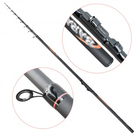 Lanseta fibra de carbon Baracuda Combat 80-450