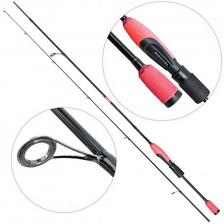 Lanseta fibra de carbon Baracuda Spark GS 180